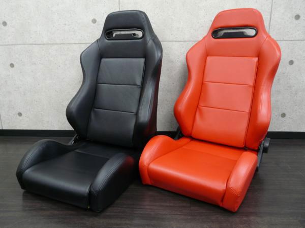 RS5 オリジナルリクライニングシート セミバケットシート(レカロ SR3タイプ)フェイクレザー