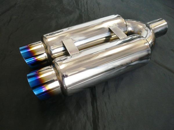 チタン発色 砲弾サイレンサー ワンオフ用 100-76.3Φ